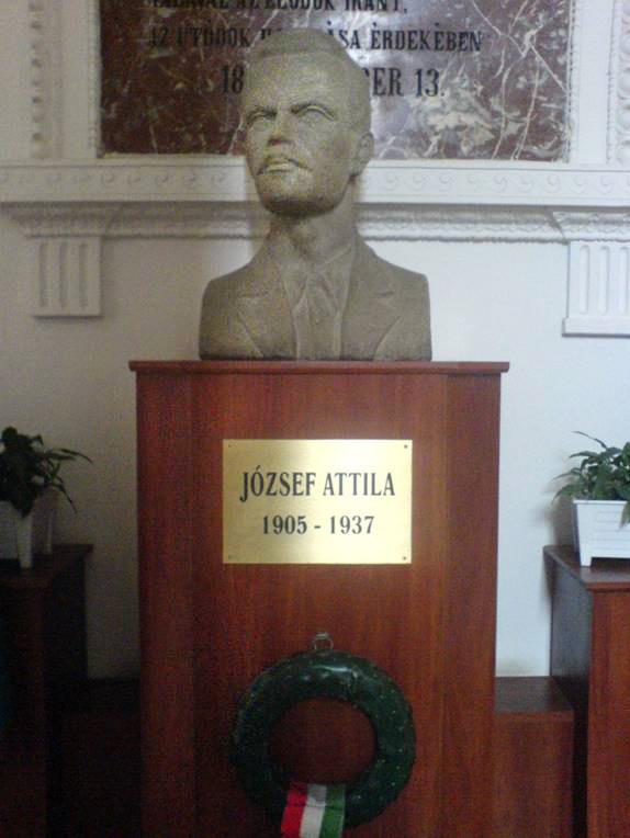 József Attila mellszobra